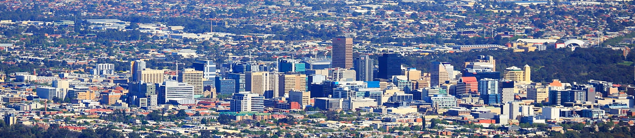 Pictured: skyline of Adelaide