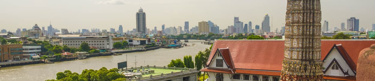 Pictured: skyline of Bangkok