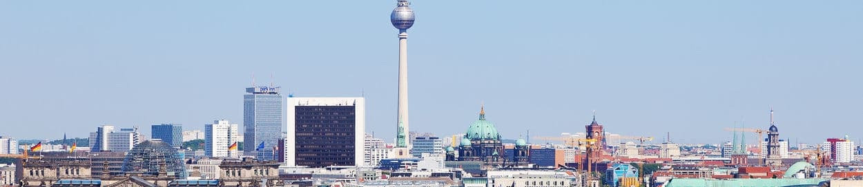 Pictured: skyline of Berlin