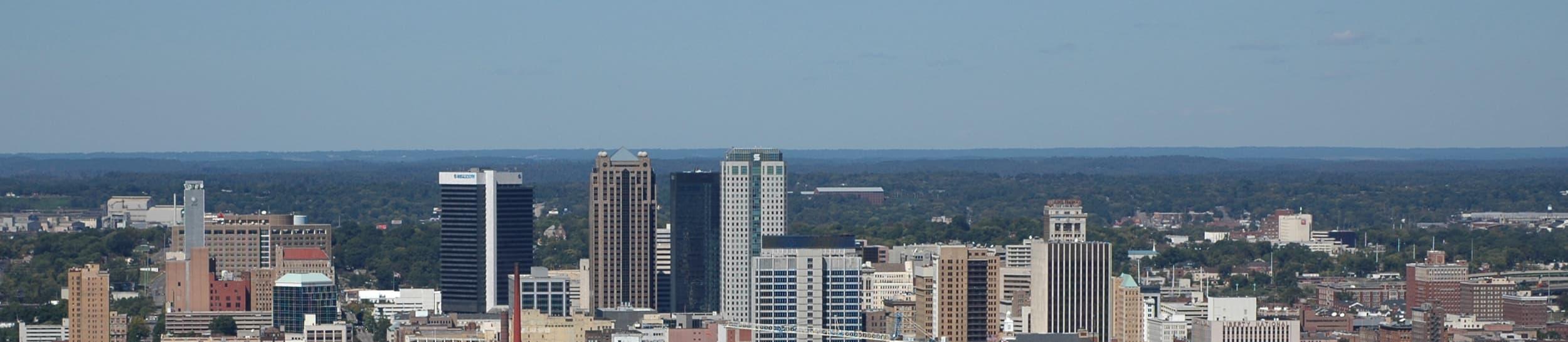 Pictured: skyline of Birmingham