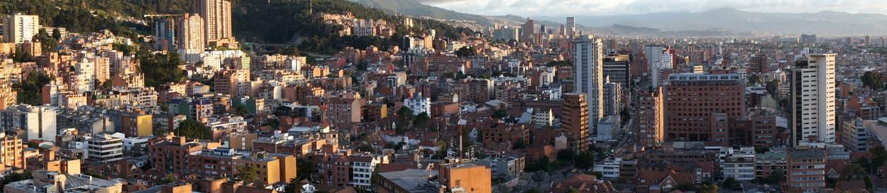 Pictured: skyline of Bogota