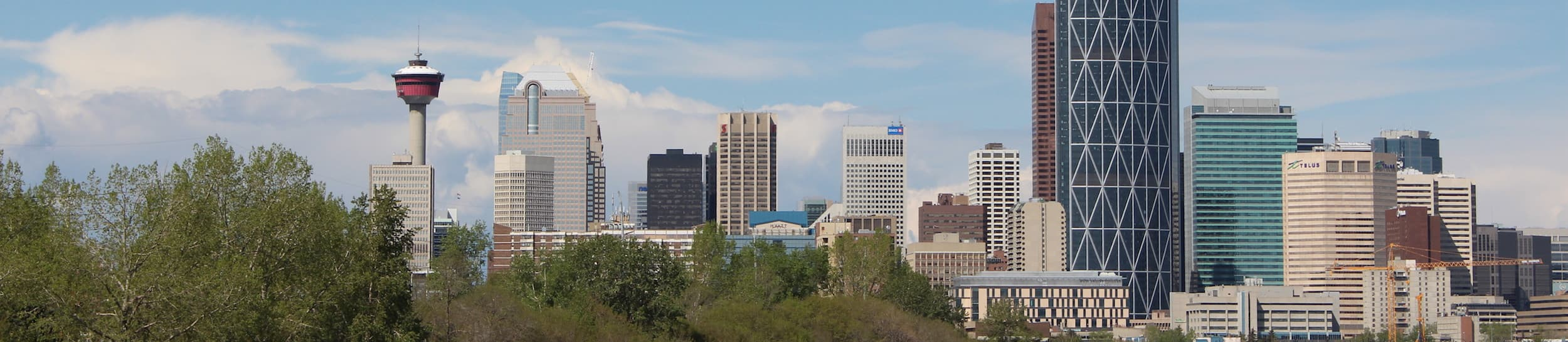 Pictured: skyline of Calgary