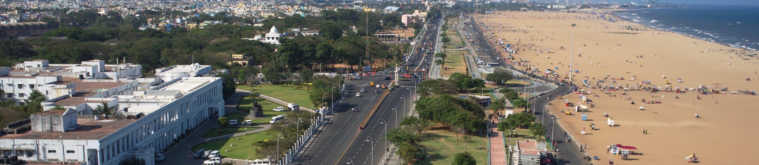 Pictured: skyline of Chennai