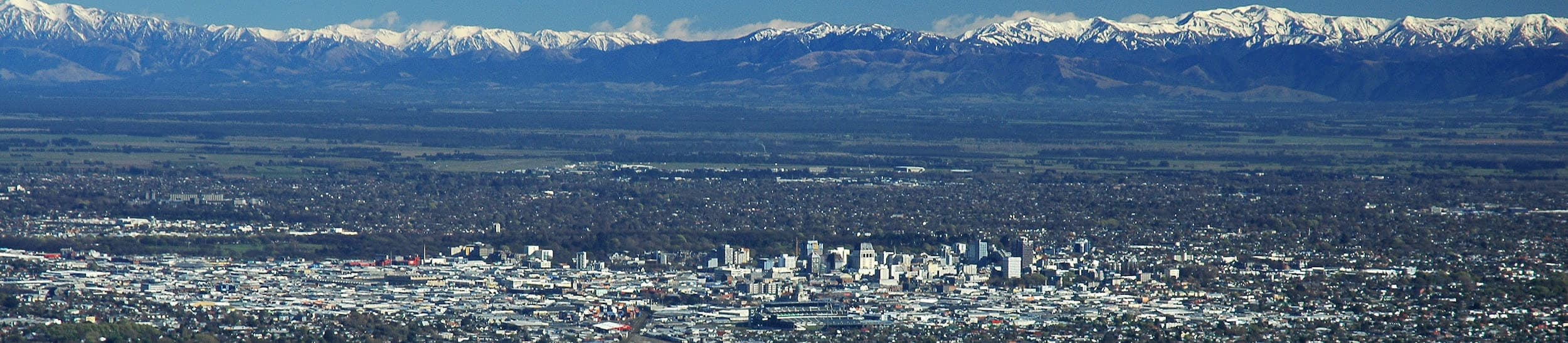 Pictured: skyline of Christchurch
