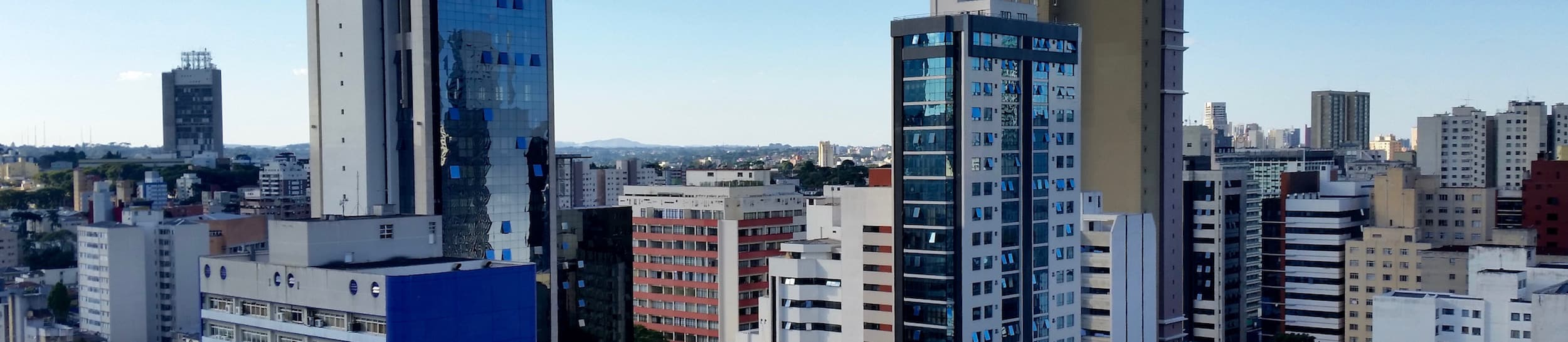 Pictured: skyline of Curitiba