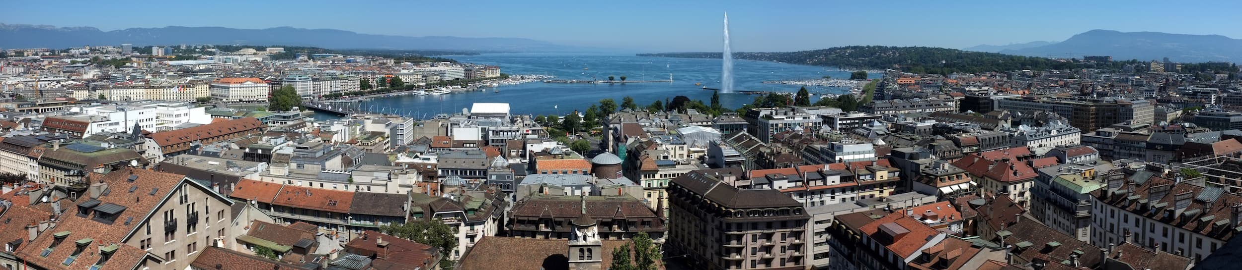Skyline of Geneva
