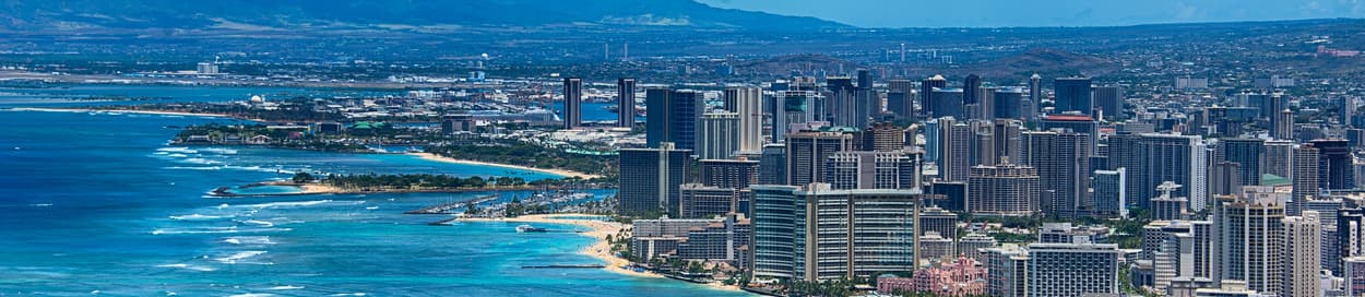 Pictured: skyline of Honolulu