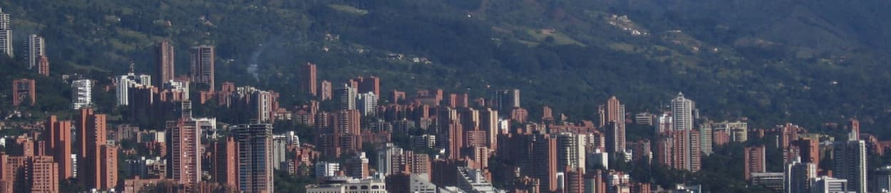 Pictured: skyline of Medellin