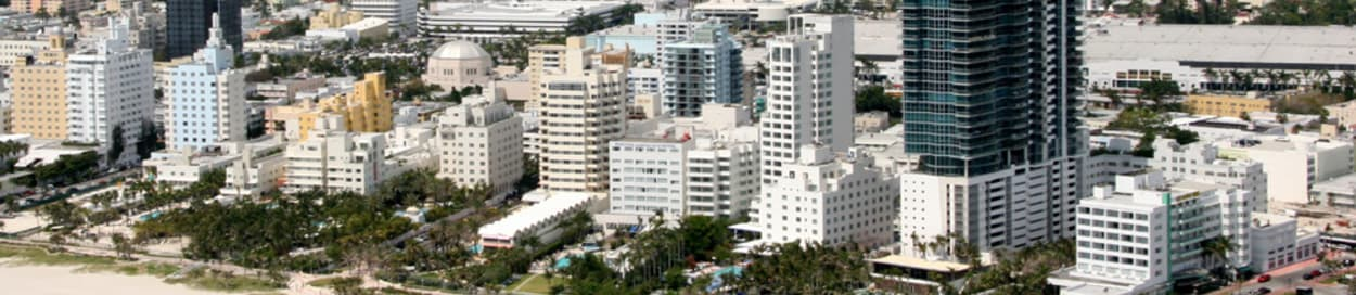 Skyline of Miami Beach