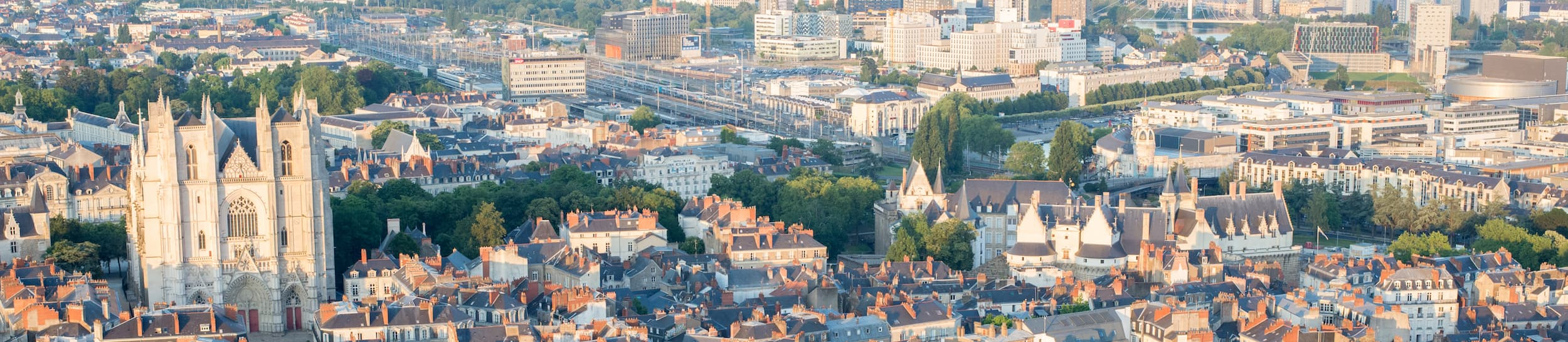 Pictured: skyline of Nantes