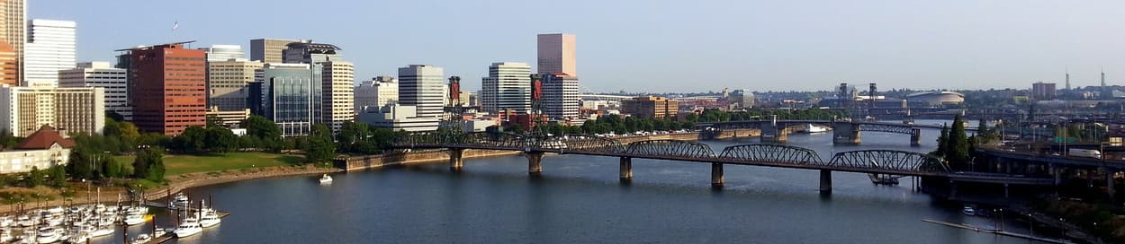 Pictured: skyline of Portland