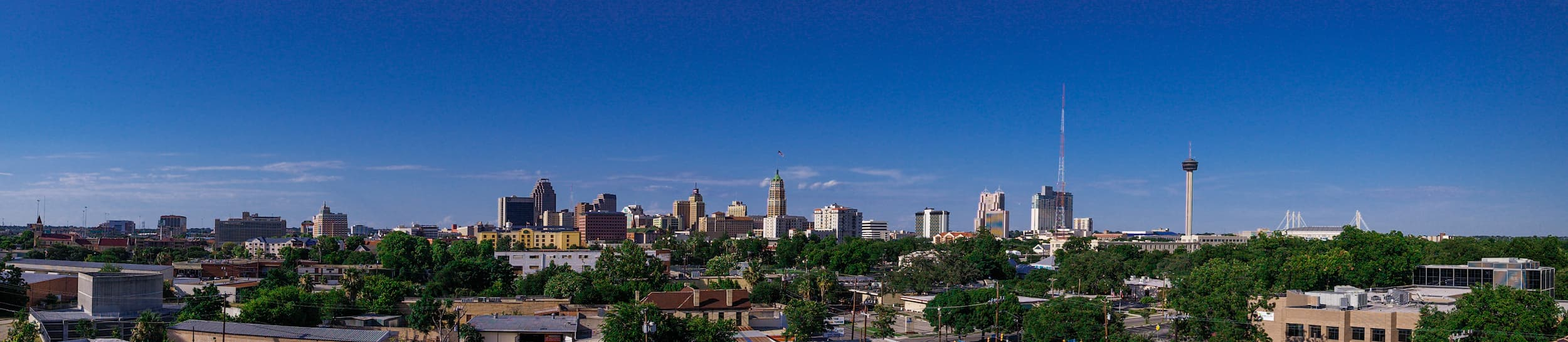 Pictured: skyline of San Antonio