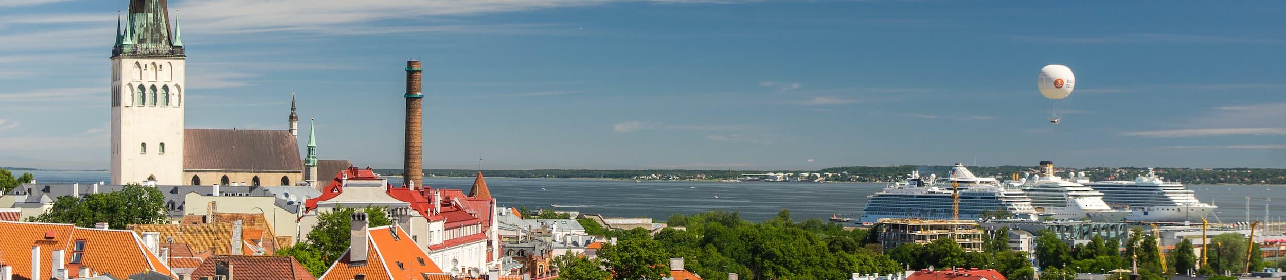 Pictured: skyline of Tallinn